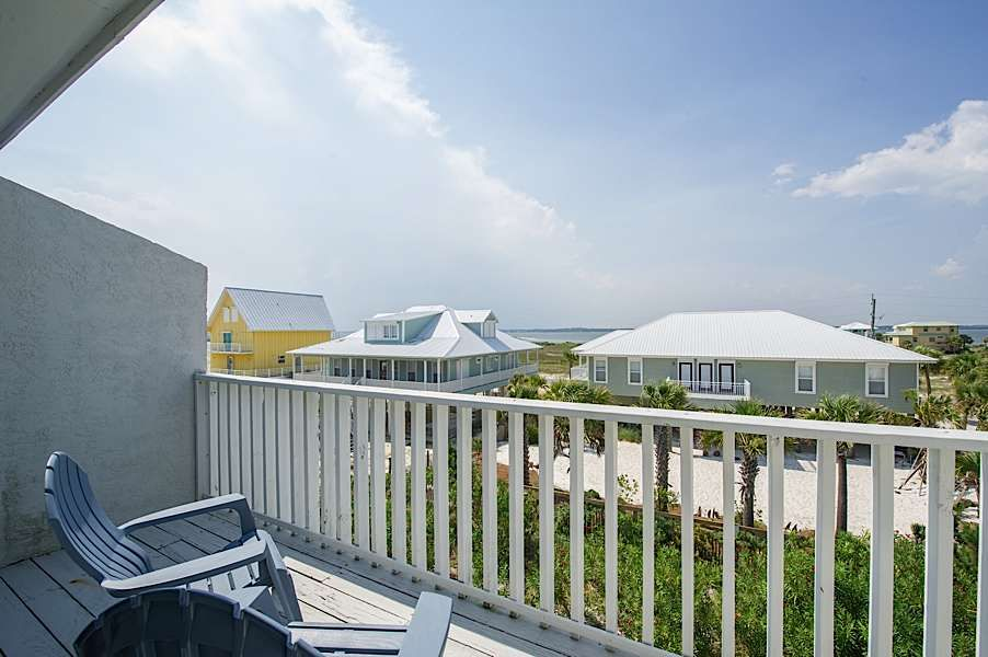 Balcony 2nd Bedroom. Upscale 2 bedroom Townhome  Easy Access      HomeAway Navarre Beach