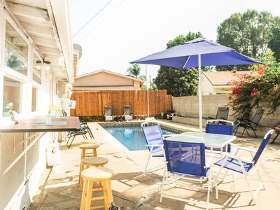 Photo for Pool House with Jacuzzi, Custom bar, and more