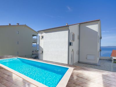 Photo for This 8-bedroom villa for up to 16 guests is located in Novi Vinodolski and has a private swimming po