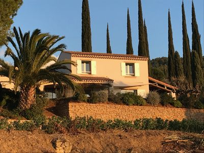Photo for House for 10 people - Garden and pool. Large view of the bay of La Ciotat