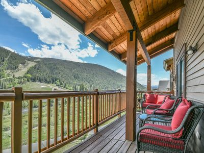Photo for Top floor condo w/ private balcony! Ski Mountain Views & Outdoor Hot Tubs