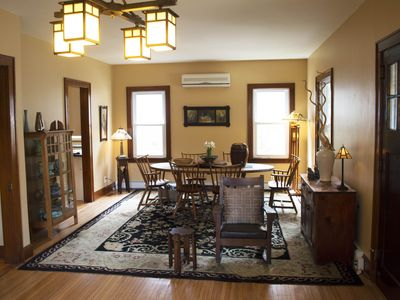 Photo for Restored Arts and Crafts Bungalow within walking distance to shopping and dining