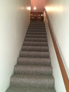 From your private entrance walk up the stairs to your roomy but cozy escape!