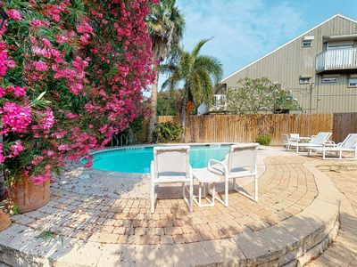 Photo for Central home w/ deck & private pool - 1 block to the beach!