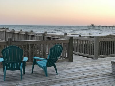 Photo for Newly renovated, oceanfront duplex. Contact for specials on long winter rentals!