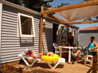 Photo for Camping Mas Des Lavandes **** - Mobil Home Comfort + 3 Rooms 4/6 People