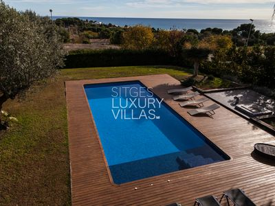 "Photo for ""Villa Rut at 12 min from Sitges, sea views and heated pool"""