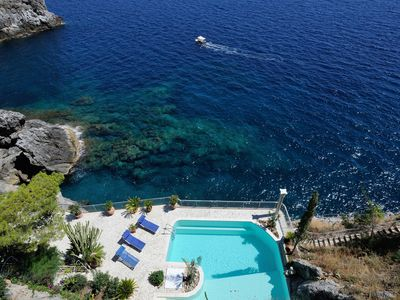 Photo for Villa Azzurra with private pool and access to the sea