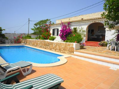 Photo for Villa Bella for 8 guests,  5 min drive to Es Mercadal, Menorca and 6km to the beach