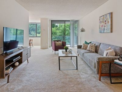Photo for Modern Flat Just Outside DC + Gym + Pool