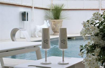 Photo for ground floor of villa, 5 *****, swimming pool jaccuzi privative, exclusively for adults