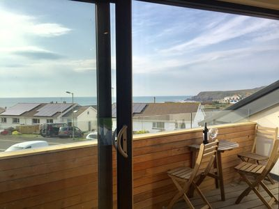 Photo for Salty Towers. Sleeps 6.  Only one minute stroll to Widemouth beach.