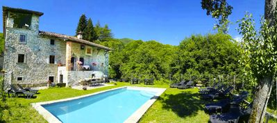 Photo for Friends of Tuscany, 17C merchant villa, private swimming pool, medieval village