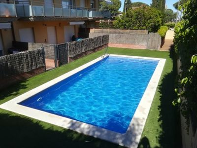 Photo for MAGNIFICENT DUPLEX, 110 M2, 2 TERRACES, SWIMMING POOL, WIFI, 300 M FROM THE SEA