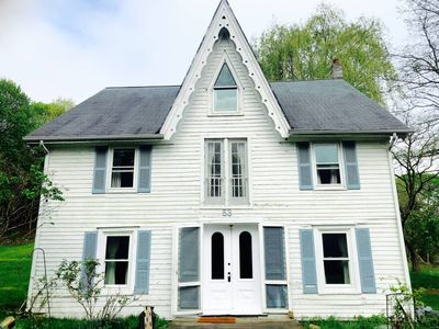 Sparrow House is an Carpenter Gothic Victorian built by Captain LP Clark in 1859