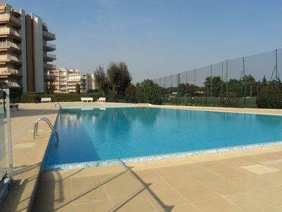 Photo for Nice 2 rooms apartment, bright, by the sea and the beaches, large pool