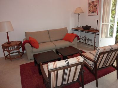 Photo for CHARMING 3 ROOMS / 1-4 PEOPLE -Central -15 MINUTES FROM THE BEACHES-RENOVATED-SPACIOUS-PLEASANT GARDEN-GARAGE-CLIM