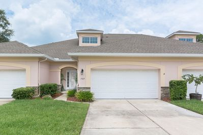 Beautifully Furnished 3/2.5 Townhouse with a 2 Car Garage. Looks out over the Golf Course with a great water view. A community pool.