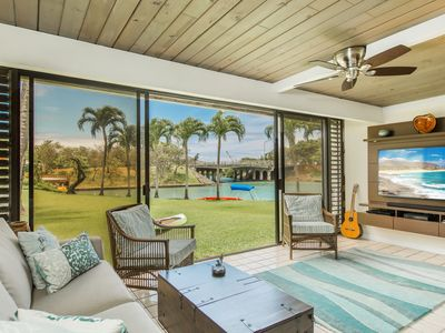 Photo for Waterfront home of peaceful joy: Villa Laule'a