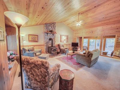 Photo for A picturesque cabin that is pet-friendly, near shops, and bike trails!