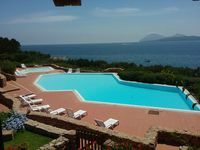 Nice characterful property with great views overlooking the pool and sea