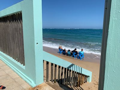 Photo for Beachfront, comfortable, family house. Lots of fun