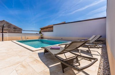 Photo for Beautiful villa with private pool, washing machine, air conditioning, WiFi, terrace and barbecue area