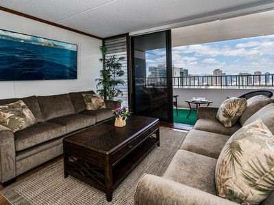 Photo for Rarely Available 2BR, 2BA, Free Parking Royal Kuhio Condo With Stunning Views