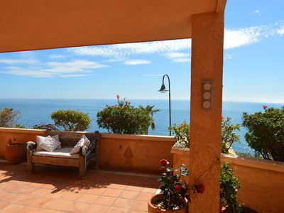 Photo for Atmospheric apartment with large terrace with sea view and clear view over Altea