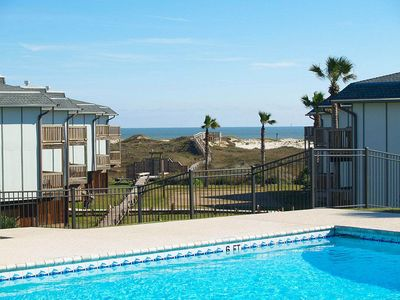 Photo for 2 bedroom 2 bath condo in the heart of Port Aransas! Heated Pool!