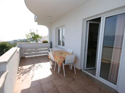 Photo for One bedroom apartment with terrace and sea view Arbanija, ÄŒiovo (A-4646-c)