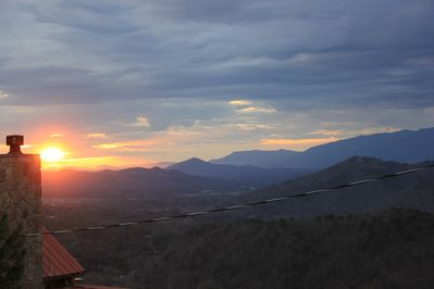 This is why we named the cabin Smokies Sunrise!
