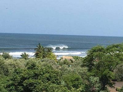 Photo for Nicaragua Jungel/Beach House overlooking great surf 4 min. walk down hill