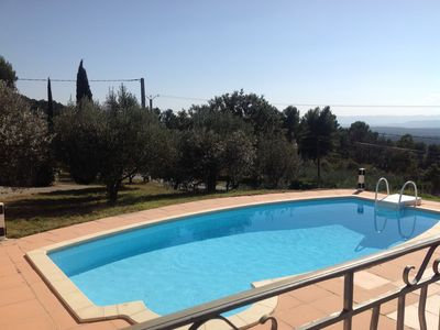 Photo for TOURTOUR, Beautiful house of 135 m2, swimming pool, open view