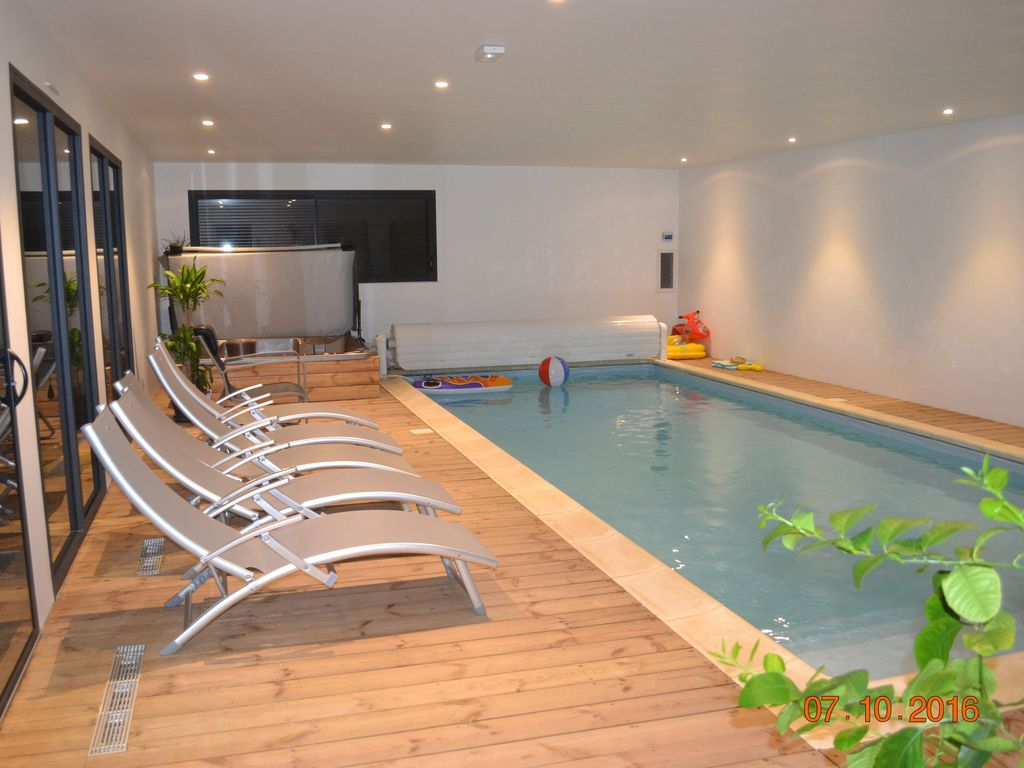 Private Indoor Swimming Pool Without Opposite Heated To 30 C All The Year Jaccuzzi Saint