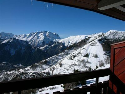 Photo for 3 rooms flat -6 sleeps in Alpe d'Huez 1850m - Very beautiful released sight