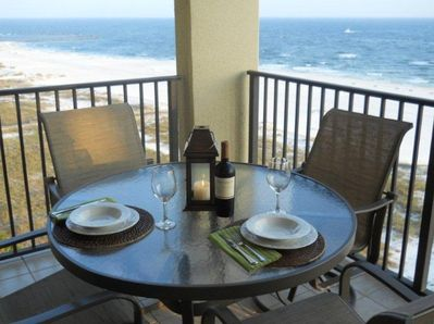 Enjoy dinner on the balcony every night...with these spectacular views!