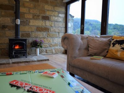Enjoy a board game or simply admire the view