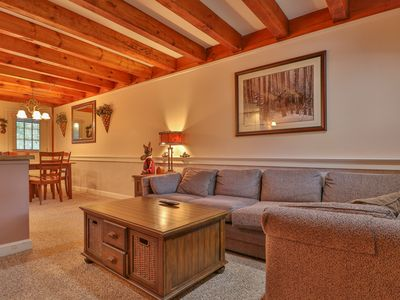 Photo for Comfy and charming condo w/ easy access to the slopes, shuttle, and restaurants!