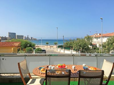 Photo for Eva: Apartment with terrace and sea view, 100m from the beach