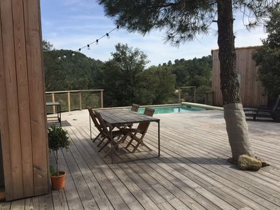 Photo for ATYPICAL - IDEAL FOR 2 FAMILIES - PRIVATE SWIMMING POOL -