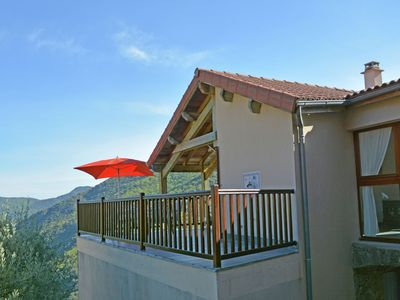 Photo for Villa in the Cevennes on the border of the Ardèche and stunning views of a lake