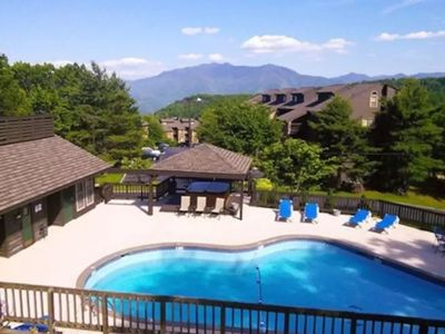 Photo for Nature's Haven - Great Views, Private Balcony, Pool, Sauna, 2 Hot Tubs, & Wi-Fi