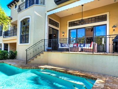 Photo for 637 Norton - Private canal home 4 Bedroom/ 3.5 Bath with private pool, maximum occupancy of 8 people.