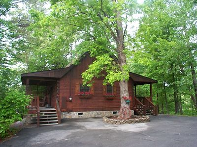 Photo for Luxury Cabin, Hottub,  2 mi to Pkwy,  Not up Mtn, Quiet,Private,SUPER CLEAN,WiFi