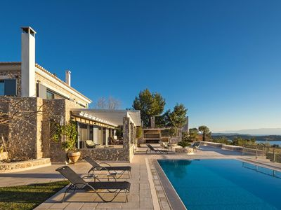Photo for Secluded, Gorgeous villa with private pool and tennis court