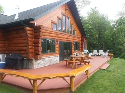 Custom Waterfront  full  Log Home State Licensed