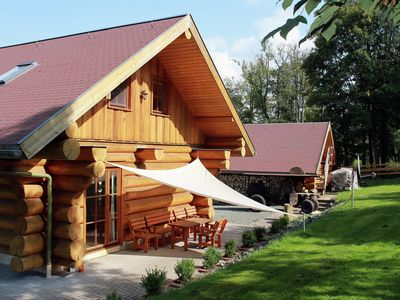 Photo for Modernly furnished wooden house with wood stove in the middle of Thuringia's hiking paradise