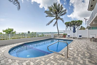 Take in the sweeping beach views while you enjoy this private heated pool.