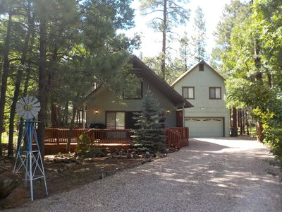 Photo for SPECTACULAR COZY CABIN NESTLED IN THE PINES